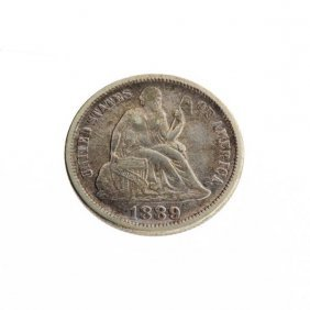 1889 U.S. Seated Liberty Dime Coin - Investment