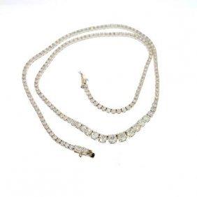 APP: 46.8k 18 Kt. White Gold, 8.00CT Diamond Necklace