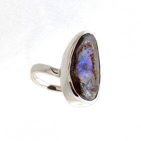 APP: 11.3k 3.61CT Boulder Opal & Sterling Silver Ring
