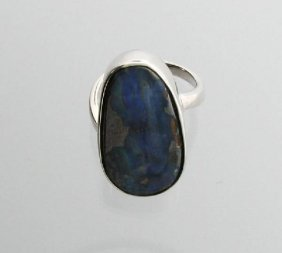 APP: 14.3k 23.78CT Boulder Opal & Sterling Silver Ring