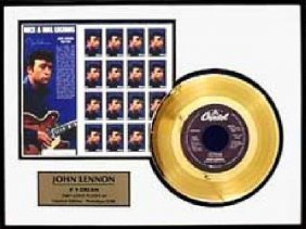 "JOHN LENNON ""#9 Dream"" Gold LP/w Stamp-Limited Edition"