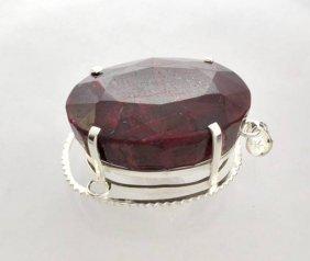APP: 29k Sebastian 515CT Oval Cut Ruby Silver Pendant
