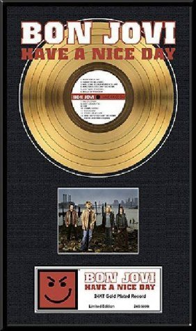 "BON JOVI ""Have  A Nice Day"" Gold LP"