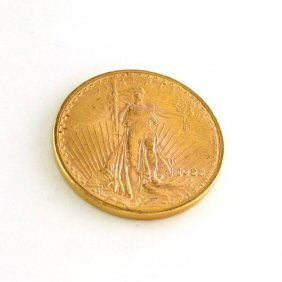 1922 U.S. $20 Saint Gaudens Gold  Coin - Investment