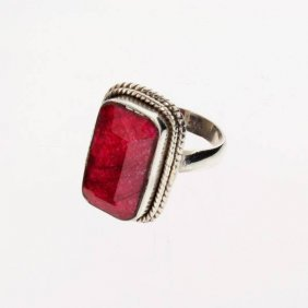 APP: 6.3k 13.10CT Ruby & Sterling Silver Ring