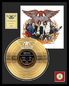 "AEROSMITH ""America's Greatest Rock & Roll Band"" Gold LP"