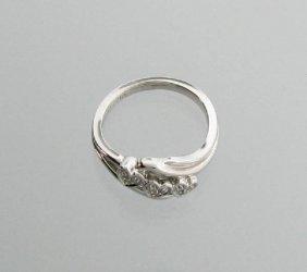 Diamond & Platinum Sterling Silver Ring