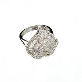 APP: 7k 14kt White Gold, 1.30CT Mixed Cut Diamond Ring
