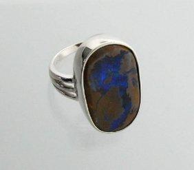 APP: 17.6k 4.33CT Boulder Opal & Sterling Silver Ring