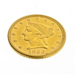 1853 $2.5 US Liberty Head Type Gold Coin - Investment