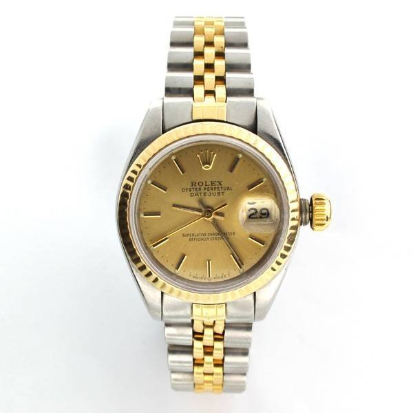 rolex s oyster perpetual datejust steel lot 1028