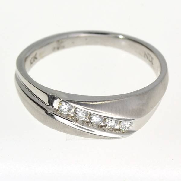 APP 2k 10kt White Gold 0 20CT Round Cut Diamond Ring Lot 909