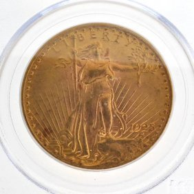 1925 $20 U.S Saint Gaudens Type Gold Coin - Investment