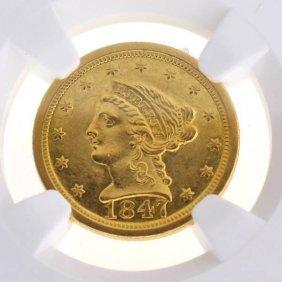 1847-O $2.5 U.S Liberty Head Type Gold Coin