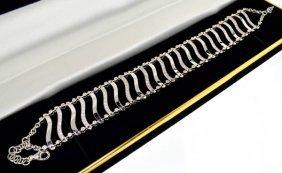 APP: 14.8k *18 Kt. White Gold, 2.35CT Diamond Bracelet