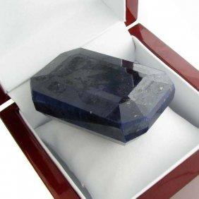 APP: 43k 1,228.25CT Emerald Cut Blue Sapphire Gemstone