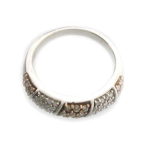 APP 2k Diamond & Platinum Sterling Silver Ring Lot 757