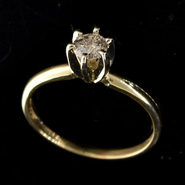 APP 3k 14kt White & Yellow Gold Diamond Ring Lot 2423