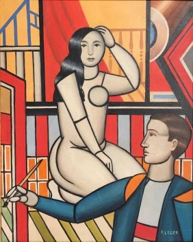 Fernand Leger (oil On Canvas)