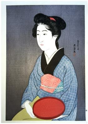 Goyo Hashiguchi: Waitress With A Red Tray