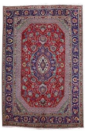Persian Tabriz Wool Handmade Rug 7x11