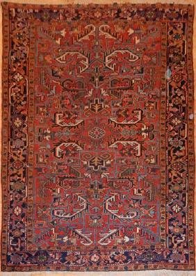 Antique Persian Heriz Rug 6.5x9.0