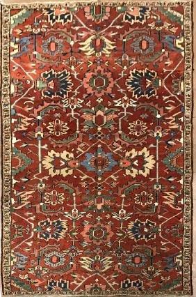 Antique Persian Heriz Rug 6.7 X 10.7