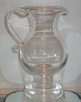 18th C Style Georgian Glass Pitcher W Gold Coin