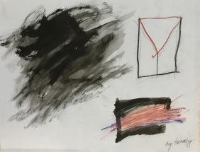 Cy Twombly: Mixed Media On Paper