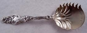 Antique Whiting Sterling Silver Lily Cucumber Server
