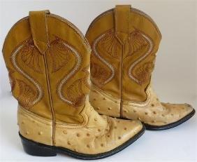 Children's Leather Cowboy Boots, Circa 1950