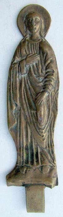 Female Saint Russian Bronze Icon, 19th C