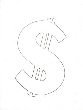 Andy Warhol - Dollar Sign - 1981