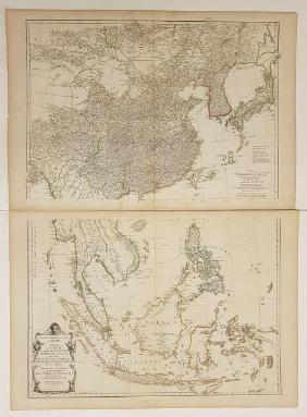 Lot Antiquarian Nautical & Island Maps