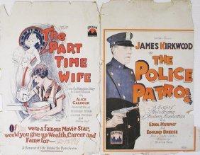 SILENT WINDOW CARDS James Kirkwood, Alice Calhoun