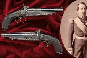 A Pair Of Pin-fire Pistols Made For Napoleon Iii