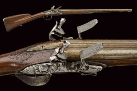 A Double Barreled Flintlock Shotgun