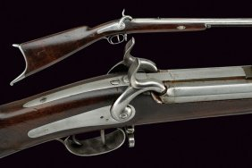 A Double-barrelled Percussion Rifle