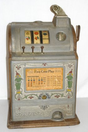 25 Antique Jennings Nickel Slot Machine Lot 25