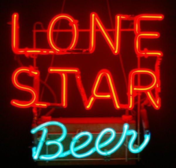 1146: Old Lone Star Beer Neon Advertising Sign : Lot 1146