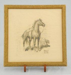 Robert Wesley Amick Horse Sketch