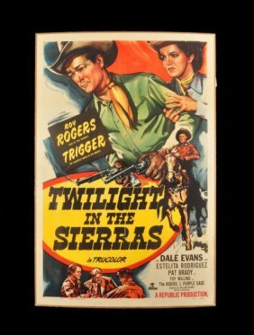 Roy Rogers Twilight In The Sierras Movie Poster