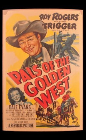 Roy Rogers Pals Of The Golden West Movie Poster