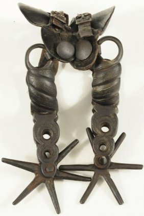 Huge Mexican Chihuahua Spurs Circa 1890 - 1910