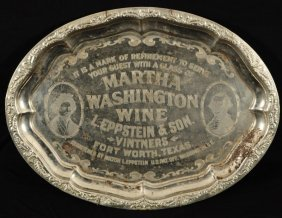Fort Worth Texas Wine Advertising Tray
