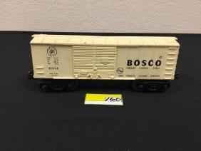 Vintage Lionel Bosco Chocolate Flavored Syrup Box Car