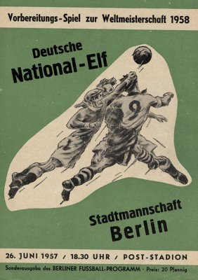 Football Programm Berlin V Germany 1958