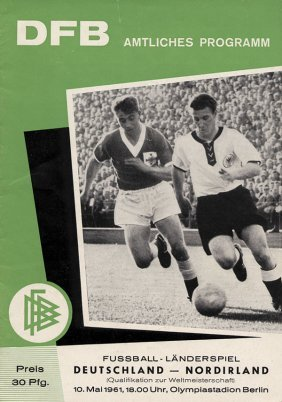 Football Programme Germany V Northern Irland 1961