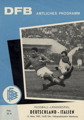 Football Programm 1965 Germany Vs Italy