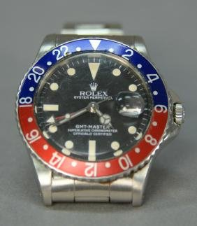 """Early 1960's Rolex """"pepsi"""" Oyster Perpetual Gmt Master"""